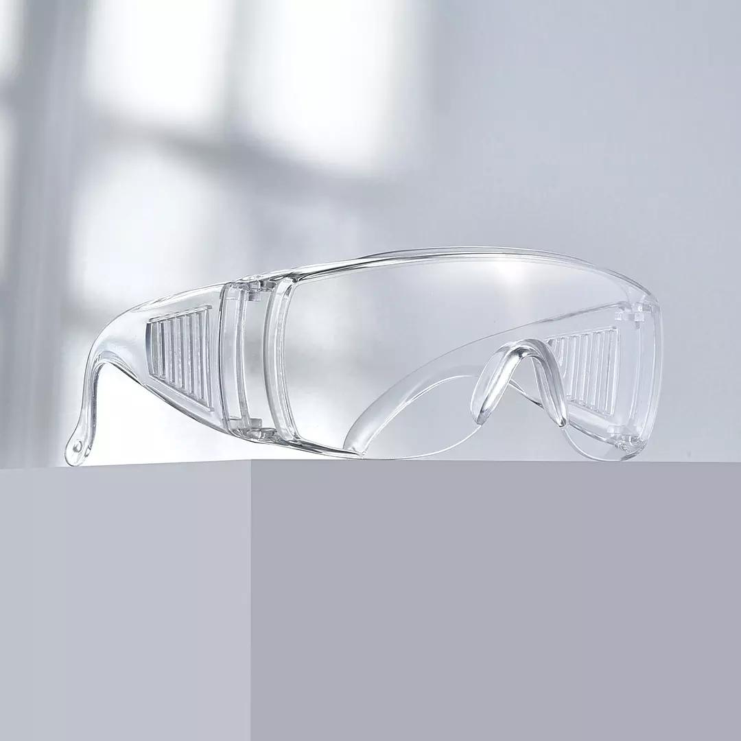百叶窗护目镜  防尘 防飞沫 透明防护眼镜 基础款